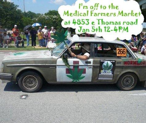 marijuana car